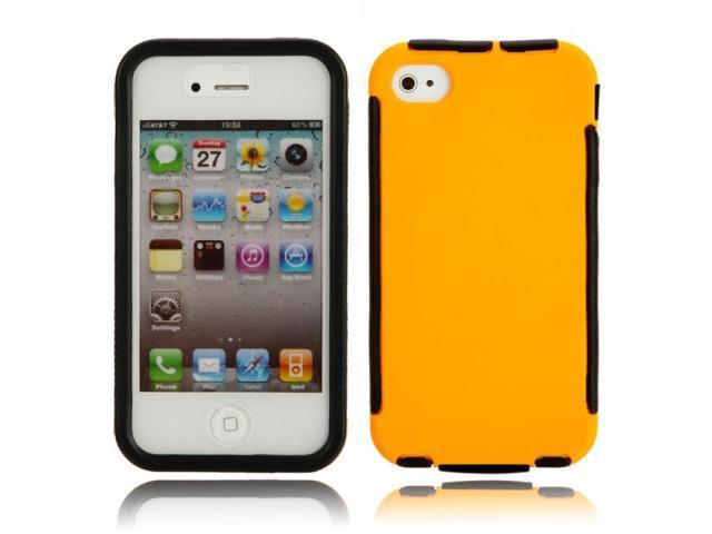 2-in-1 Anti-dust Drop Resistance Protective Case for iPhone 4/4S Yellow