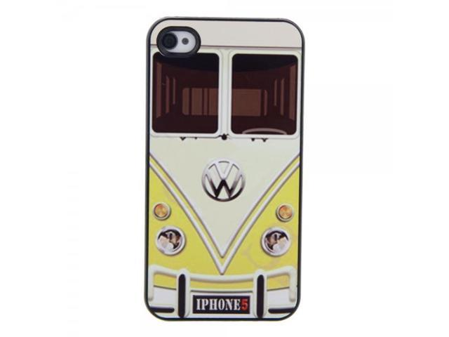 Unique Hard Protective Case with Yellow Bus Pattern for iPhone 4/4S