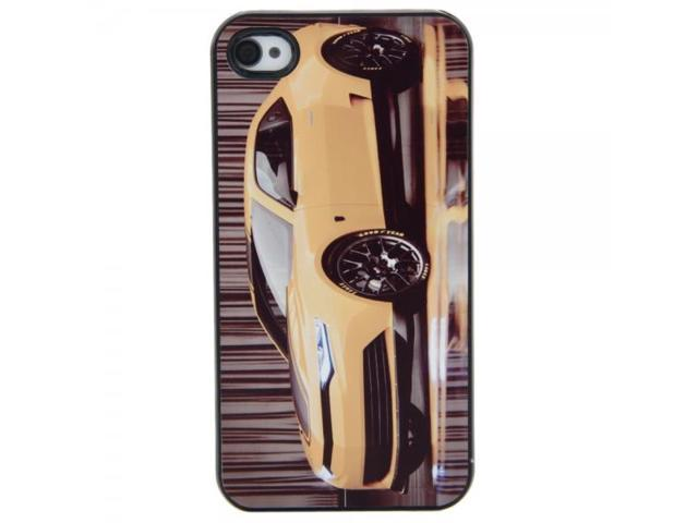 Unique Hard Protective Case with Yellow Car Pattern for iPhone 4/4S