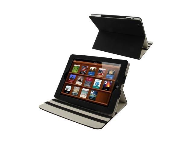High Quality Imitation Sheepskin Protective Case with Holder Function for New iPad (iPad 3) / iPad 2, Black