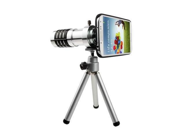 12X Optical Zoom Lens Mobile Phone Telescope Circumscribing Lens with Tripod + Plastic Case for Samsung Galaxy S4 / i9500