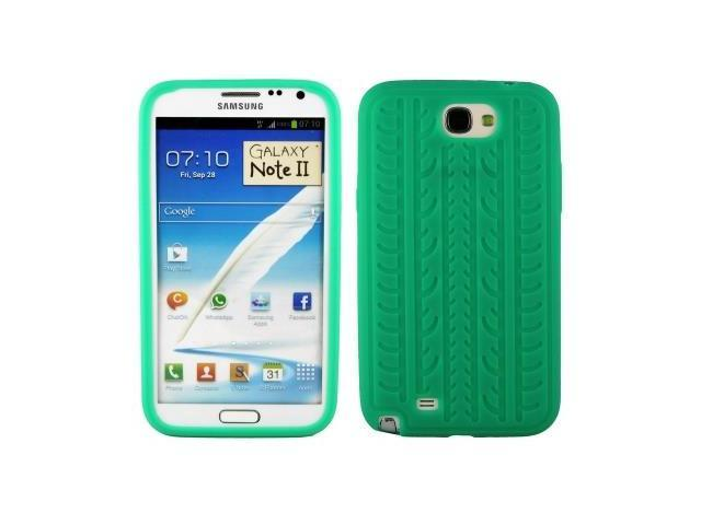 Tyre Texture Silicon Case for Samsung Galaxy Note 2 / N7100 (Green)