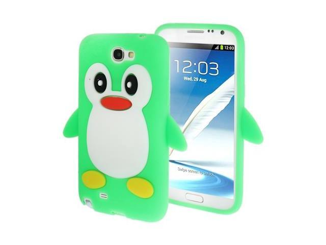 3D Penguin Shape Silicon Case for Samsung Galaxy Note 2 / N7100 (Green)