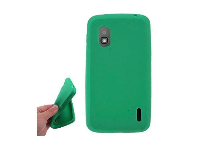 Pure Colour Silicon Case for LG E960 Nexus4 (Green)