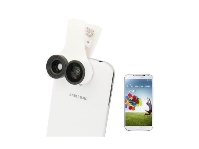 3 in 1 (185-degree Fisheye Lens + 0.67X Wide Angle Lens + Macro Lens) Photo Camera Lens for Samsung Galaxy S IV / i9500 (White) ...