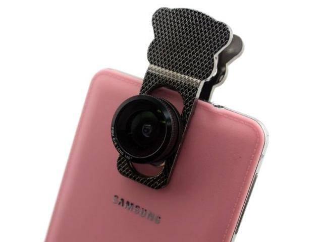 3 in 1 (Fisheye Lens + Wide Angle & Macro Lens) Universal Clamp Camera Lens for iPhone / iPad / Samsung Galaxy (Black)
