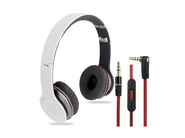 High Definition On-Ear Headphones with Control Remote and Mic for iPhone 5 & 5S & 5C, iPhone 4 & 4S, iPhone 3G & 3GS, iPad, ...