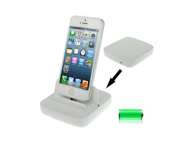 Cradle Dock Docking Station with Micro USB 2.0 Cable for iPhone 5 (White)