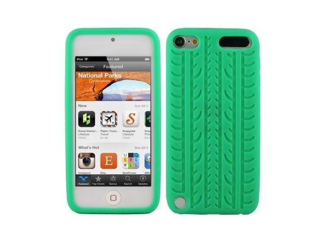 Tyre Texture Silicon Case for iPod touch 5 (Green)