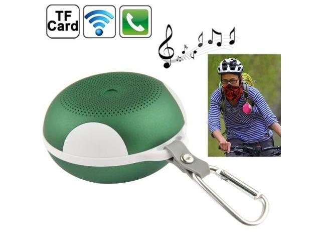 Bluetooth Speaker with Built-in Rechargeable Battery, Supporting TF Card / AUX / Bluetooth (Green)