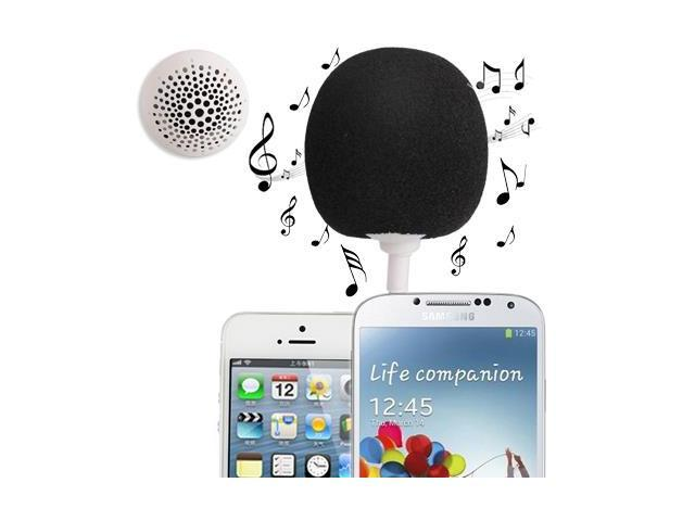 3.5mm Audio Dock / Mini Stereo Speaker, Built-in Rechargeable Battery, Suitable for All Devices with 3.5mm Audio Jack (Black)