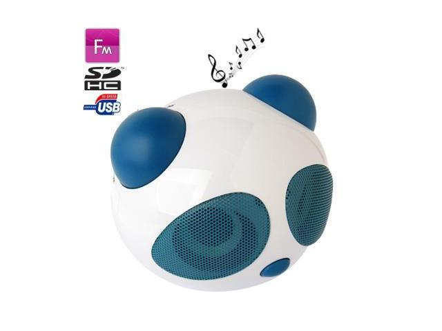 Panda Style Mini Stereo Speaker, Built-in Rechargeable Battery, Work with iPod / Notebook / MP3