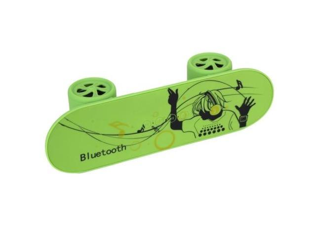 Fashionable Skateboard Style Bluetooth Speaker, Support TF Card / AUX / USB Port (Green)