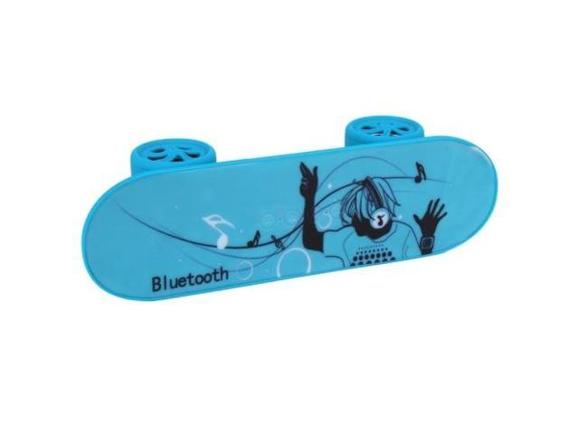 Fashionable Skateboard Style Bluetooth Speaker, Support TF Card / AUX / USB Port (Blue)