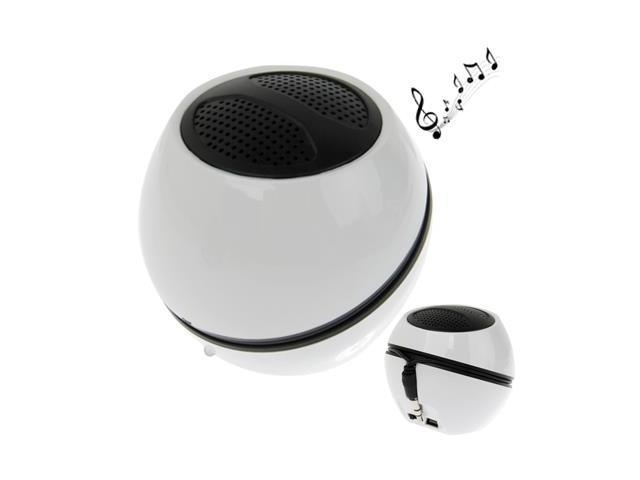 Bluetooth Wireless Speaker, Built-in Rechargeable Battery, Support External Audio Input, Size: 5.5 x 6cm (White)