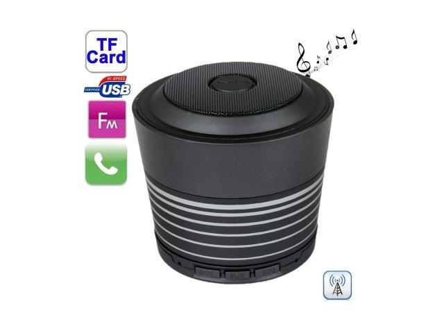 Bluetooth Wireless Speaker with Handfree Function , Built-in Rechargeable Battery, Support TF Card and AUX IN / FM (Black)