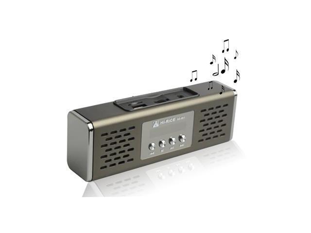 Portable Speaker Support FM Radio, TF Card Reader, Brown (Brown)