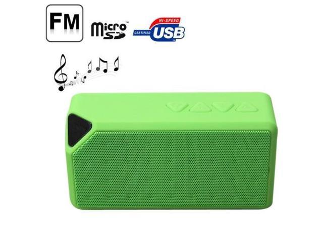 Portable Bluetooth Speaker, Supporting TF Card / AUX (Green)