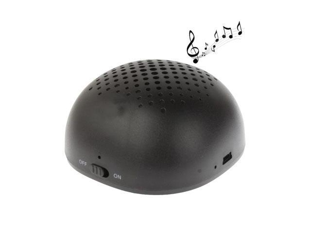Oval Style Bluetooth Stereo Speaker, Built-in Rechargeable Battery, Size: 75x75x47mm (Black)