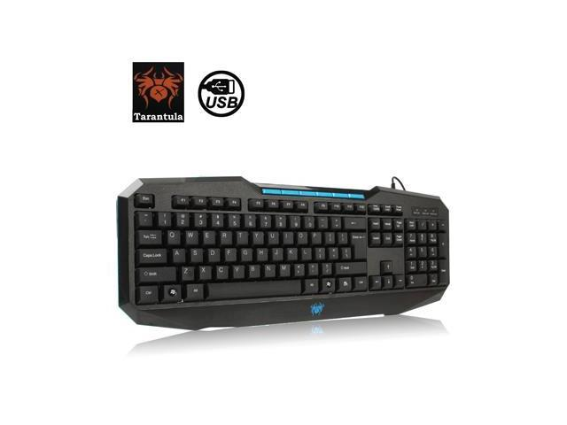 Aula Series 110 Keys High-end Wired Gaming Keyboard with 6 x Replacement Key & Gold-plated USB Port