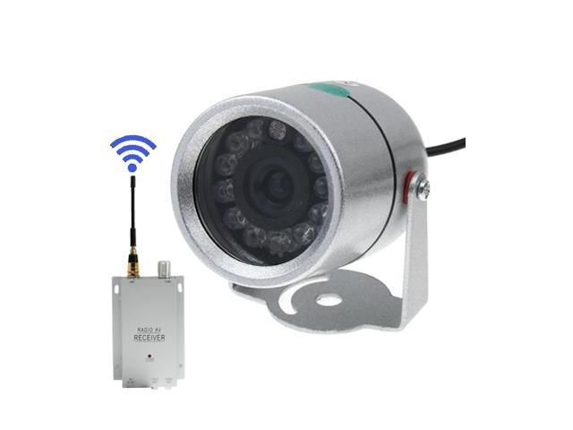 Wireless 1.2GHz RF 12-IR Night-Vision Weatherproof Security Surveillance Camera w/AV Receiver