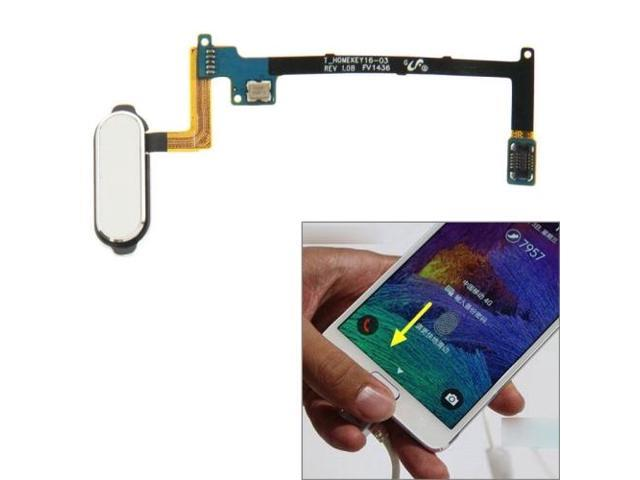 Home Button Flex Cable with Fingerprint Identification Function for Samsung Galaxy Note 4 / N910 (White)