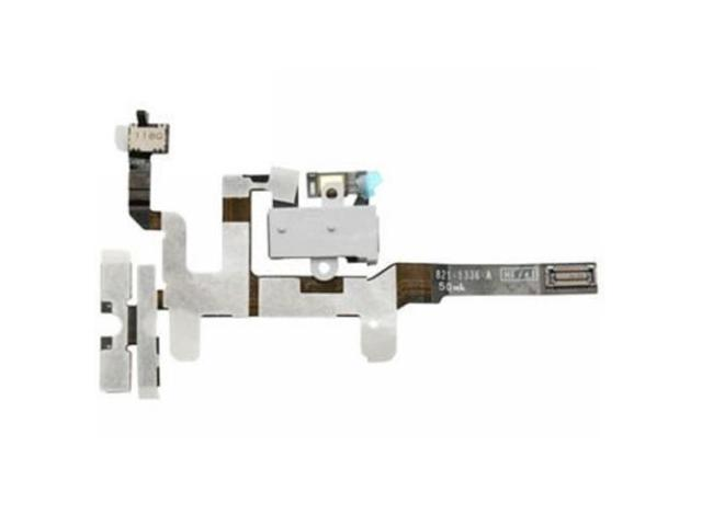 High Quality Headphone Audio Jack Ribbon Flex Cable for iPhone 4S (White)