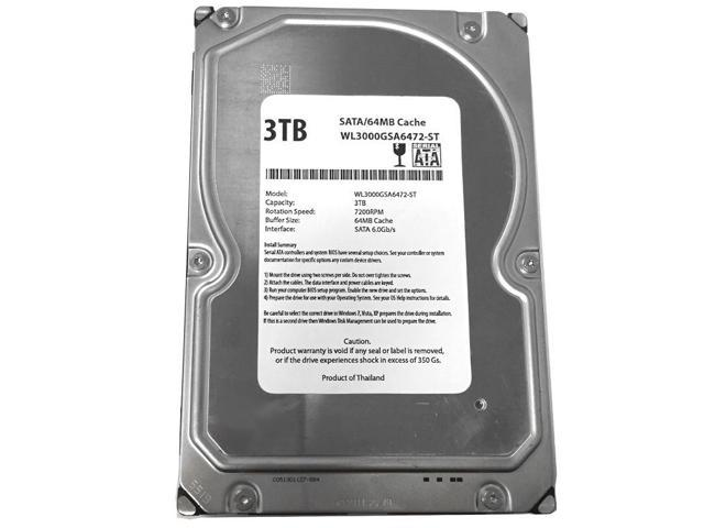 New 3TB 7200RPM 64MB Cache SATA 6Gb/s 3.5