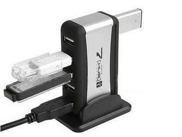 USB 7-Port HUB Powered +AC Adapter Cable High-Speed
