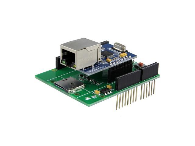 W5500 Ethernet Module / SPI to Ethernet TCP/IP for UNO R3 / MEGA2560 - Green + Silver