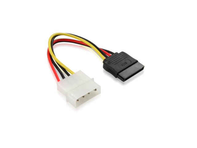 4 Pin IDE Molex to 15 Pin Serial ATA SATA Hard Drive Power Adapter Cable