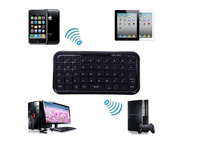 Mini Travel Size Bluetooth 3.0 Wireless Pocket Keyboard for PS3, Tablets and Smartphones