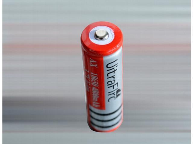 4PCS A lots bright flashlight battery 3.7V battery 4800mAh battery rechargeable 18650 lithium battery wholesale