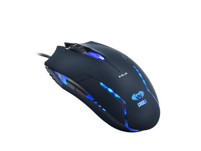 Black E-3lue E-Blue Cobra II 1600DPI High Precision Gaming LED Mouse (Bigger scroll wheel) EMS151BK