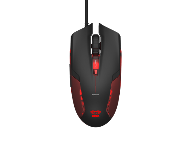 E-3lue E-Blue Cobra II 1600DPI High Precision EMS151 LED Gaming Mouse(Bigger scroll wheel)-Red EMS151RE