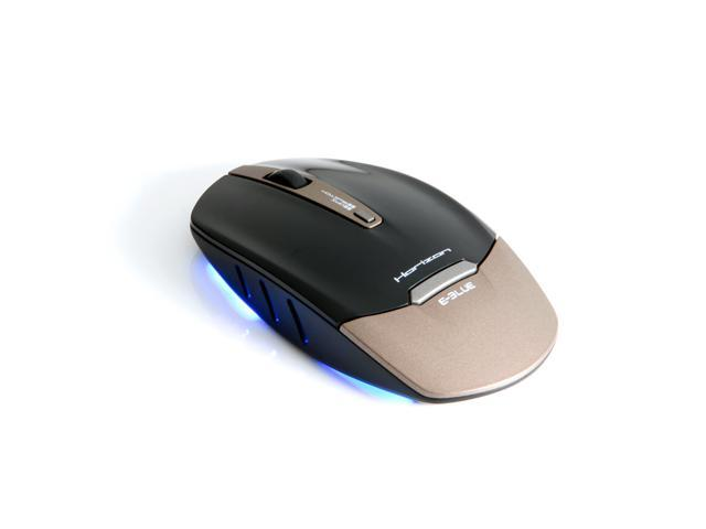 E-3lue Horizon EMS136GD Black and Gold Finest Wireless mouse with a Sleek and Stylish Desig