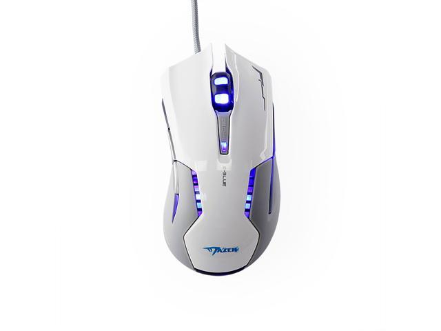 FOME E-3lue USB Wired Mazer EMS616 Gaming Mouse with 500/1200/1800/2500 Adjustable DPI CF Laptop PC Optical Mouse White+ FOME Gift
