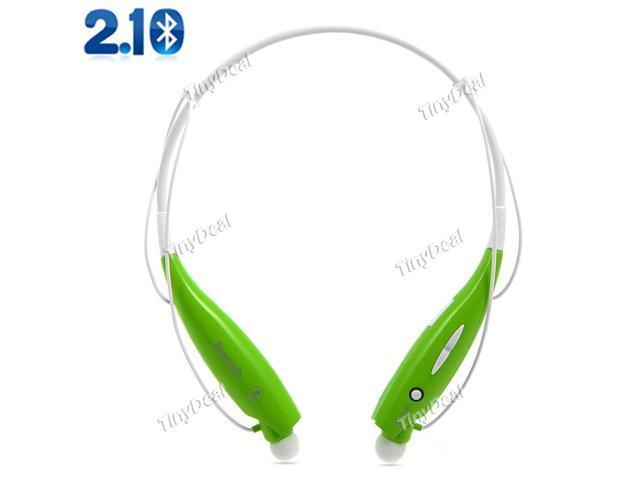 Hot Wireless Bluetooth HandFree Sport Stereo Headset headphone for Samsung LG iPhone Green