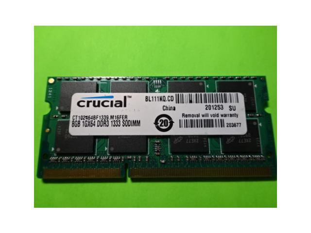 New Hot Sale Crucial 8GB DDR3 1333 MHz PC3-10600 SODIMM 204 pin Laptop Memory CT102464BF1339