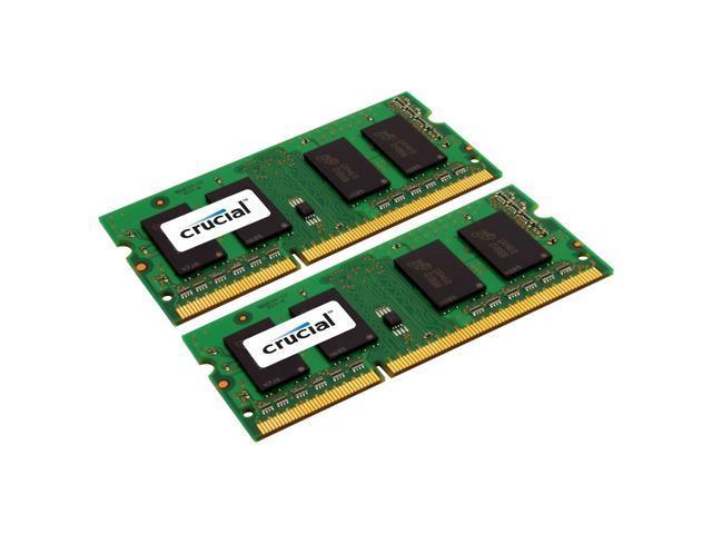 New Crucial 4GB(2 x 2GB) DDR3 204 pin SO-DIMM 1333 MHz PC3-10600 1.35V Laptop RAM Memory Unbuffered Non-ECC