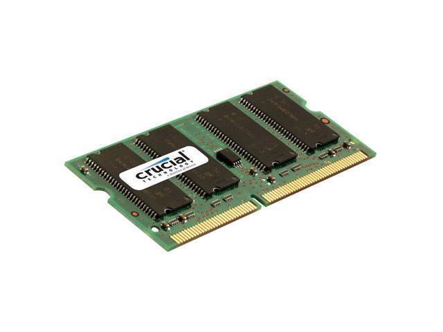 New Crucial 1GB DDR PC2700 333 MHz 200-pin SODIMM Unbuffered Non-ECC CL 2.5 Sodimm Memory CT12864X335