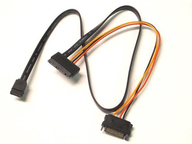 Micro SATA Cable with 15 Pin Power and SATA III DATA Adapter Cable