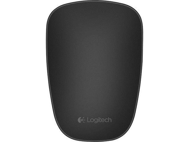 Logitech - T630 Ultrathin Optical Touch Mouse - Black