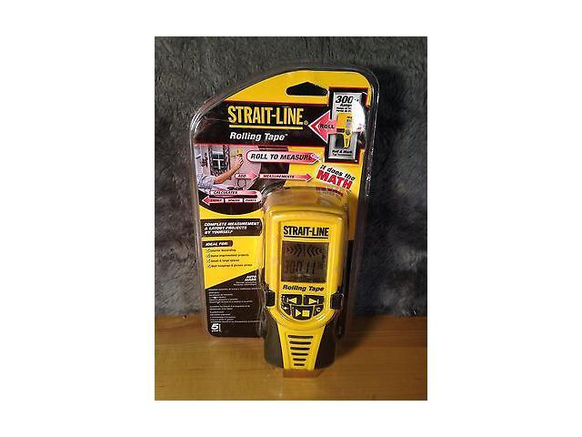 New Strait-Line Rolling Tape Electronic Measuring Tape 300FT Range NIB Straight