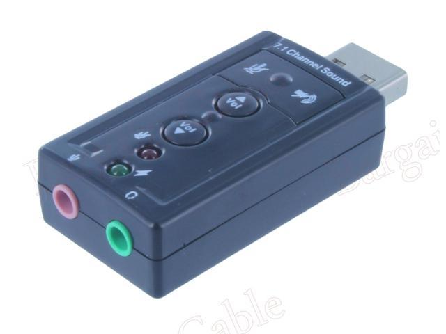 New Good USB External 7.1 Channel 3D Virtual Audio Sound Card Adapter PC Buy 2 Get 1 Free