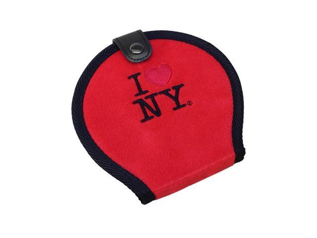 New I Love NY New York 20 CD / DVD Case Holder Disc Organizer Wallet Bag Album - Red