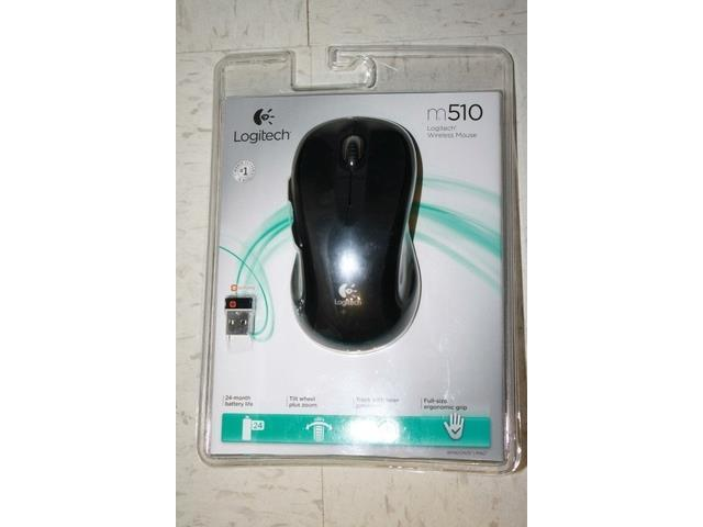 HOT Sealed Logitech M510 Wireless nano USB Full Size Laser Mouse-Black