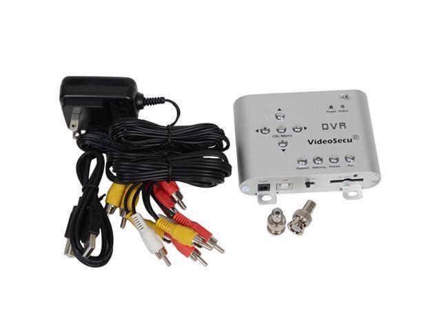 VideoSecu 2 Channel CCTV Surveillance SD Motion Detection Mini DVR Security Digital Audio Video Recorder A25