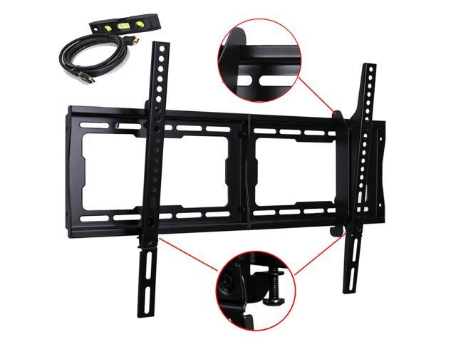 VideoSecu Tilt Plasma LCD LED Dual Hook TV Wall Mount for 32-65 inch UHD Flat Panel Screen HDTV with VESA up to 600x400mm, Weight Capacity ...