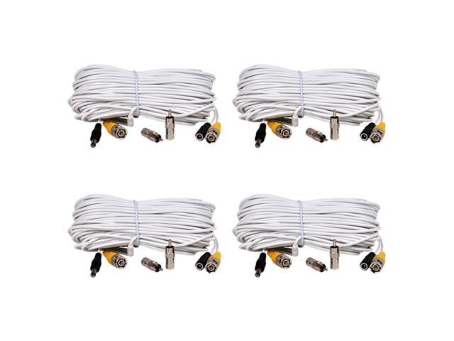 VideoSecu 4 x 100 feet Video Power Security Camera Extension Cable Wire Cord Free BNC RCA Adapter Connectors C23